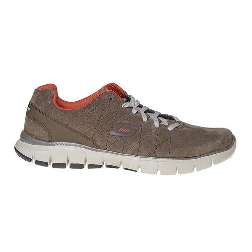 Sneakers da uomo in pelle skechers, marrone, 803-4351 - 15