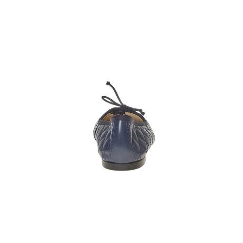 Ballerine in pelle con cuciture bata, blu, 524-9431 - 17