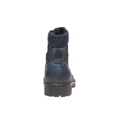 Scarpe da uomo in pelle alla caviglia bata, blu, 894-9634 - 17