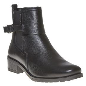 Stivaletti in pelle alla caviglia bata, nero, 594-6558 - 13