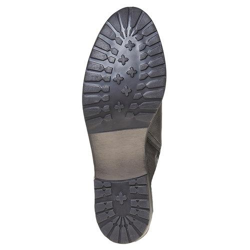 Stivaletti in pelle alla caviglia bata, nero, 594-6558 - 26