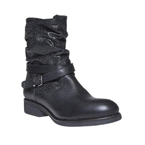 Stivali in pelle da donna bata, nero, 594-6138 - 13