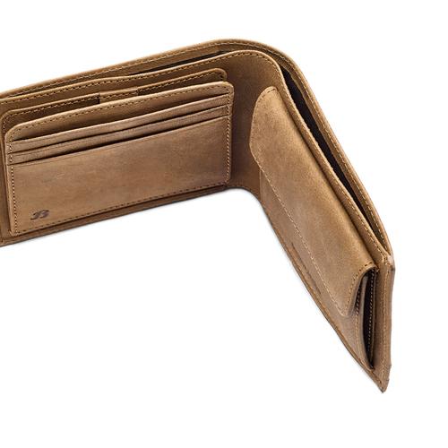 Portafoglio in pelle da uomo bata, marrone, 944-3143 - 15
