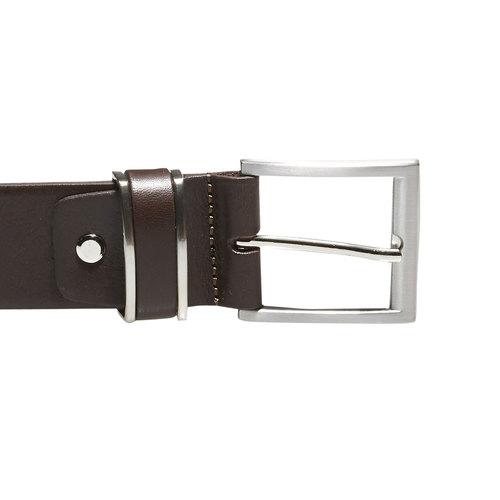 Cintura da uomo in pelle bata, marrone, 954-4130 - 26