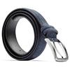 Cintura blu in pelle bata, blu, 954-9120 - 26
