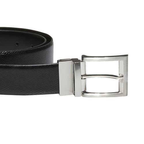 Cintura da uomo in pelle bata, nero, 954-6123 - 26