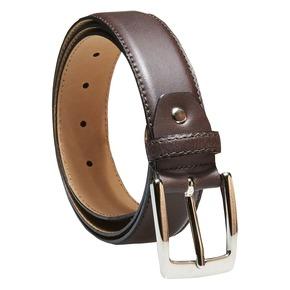 Cintura da uomo in pelle bata, marrone, 954-4170 - 13