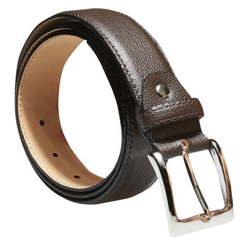 Cintura da uomo in pelle bata, marrone, 954-4169 - 13