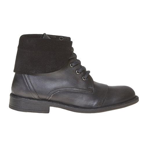 Scarpe da donna in pelle sopra la caviglia bata, nero, 594-6450 - 15