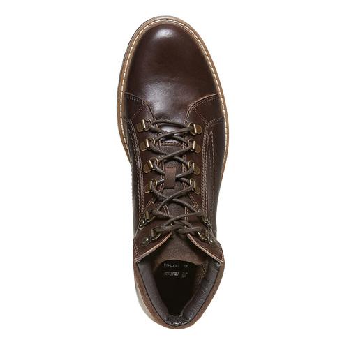 Scarpe di pelle alla caviglia bata, marrone, 894-4561 - 19