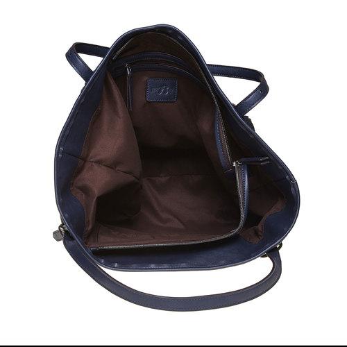 Borsa da donna con borchie bata, blu, 969-9264 - 15