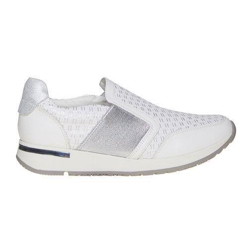 Sneakers da donna senza lacci north-star, bianco, 531-1121 - 15