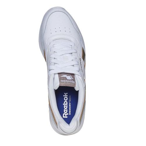 Sneakers da donna con dettagli dorati reebok, bianco, 504-1919 - 19