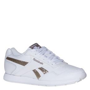 Sneakers da donna con dettagli dorati reebok, bianco, 504-1919 - 13