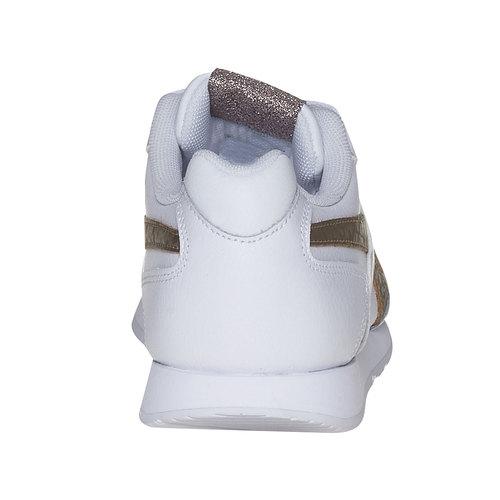 Sneakers da donna con dettagli dorati reebok, bianco, 504-1919 - 17