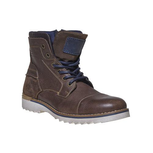 Scarpe da uomo alla caviglia, marrone, 894-4689 - 13