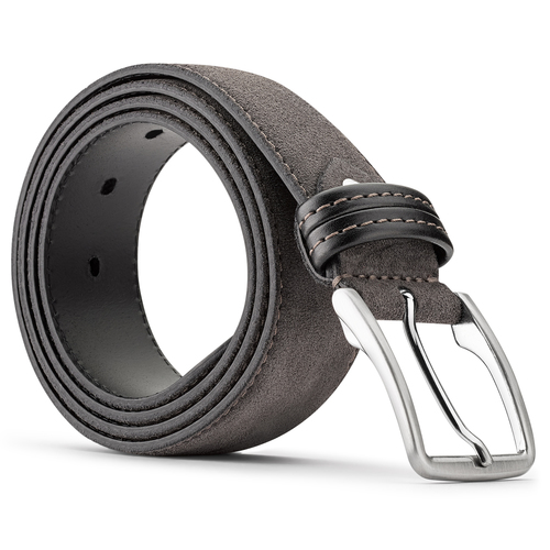 Cintura di pelle da uomo bata, grigio, 953-2807 - 26
