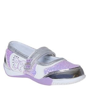 Scarpe da ragazza con glitter mini-b, grigio, 221-2186 - 13