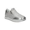 Sneakers argentate da bambina con cerniere, grigio, 321-2255 - 13
