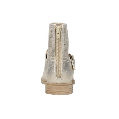 Stivali da bambina con perforazioni mini-b, oro, 391-8317 - 17