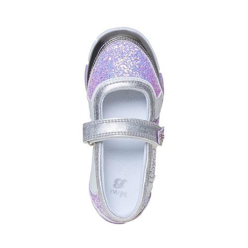 Scarpe da ragazza con glitter mini-b, grigio, 221-2186 - 19