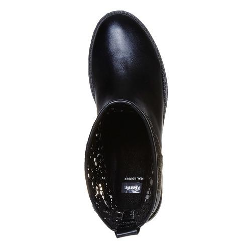 Stivali primaverili da donna con pizzo bata, nero, 591-6103 - 19