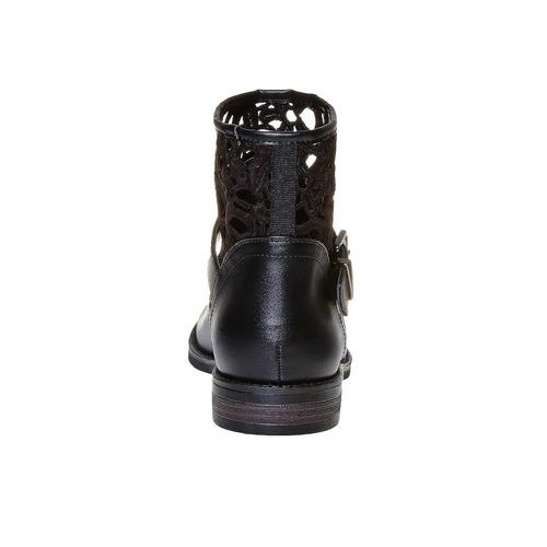 Stivaletti da donna sopra la caviglia con cinturino bata, nero, 591-6110 - 17