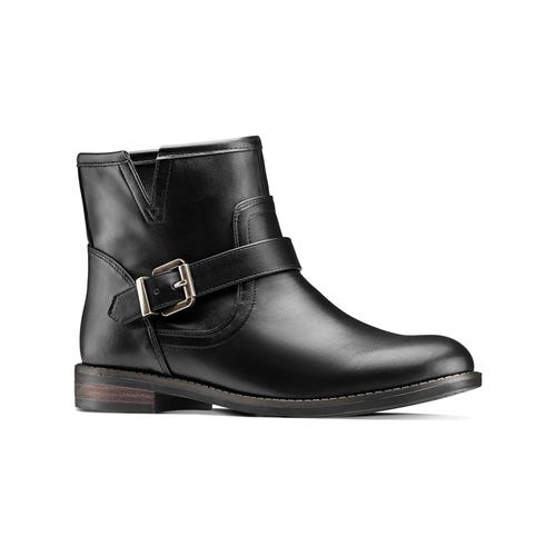 Scarpe da donna in stile motociclista bata, nero, 591-6368 - 13