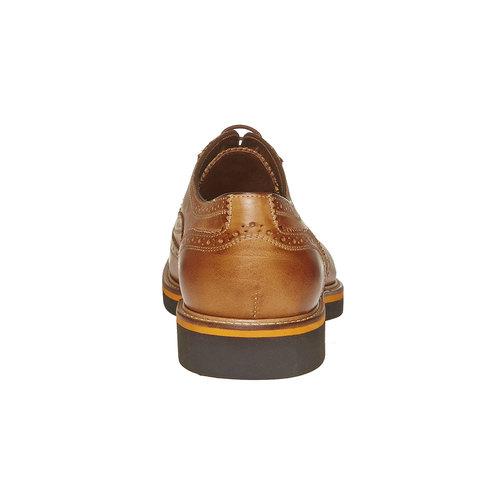 Scarpe basse marroni in stile Oxford bata-the-shoemaker, marrone, 824-8776 - 17