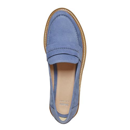 Mocassini in pelle da donna bata, blu, 516-9259 - 19