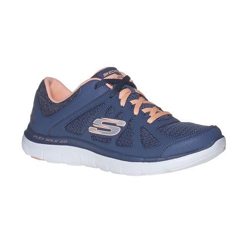 Sneakers sportive da donna skechers, blu, 509-9963 - 13