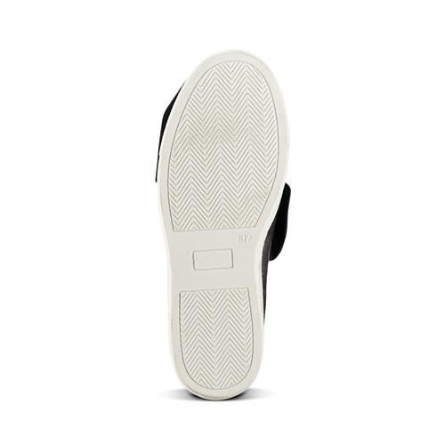 Sneakers in pelle con fiocco north-star, nero, 514-6264 - 17