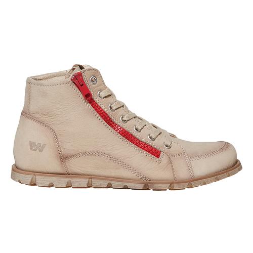 Scarpe da donna alla caviglia weinbrenner, beige, 596-8103 - 15