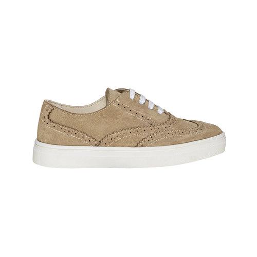 Sneakers da bambino di pelle, marrone, 313-3256 - 15