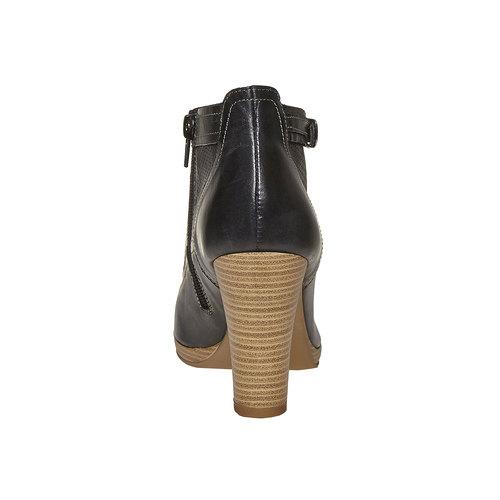 Stivaletti in pelle alla caviglia bata, nero, 724-6556 - 17