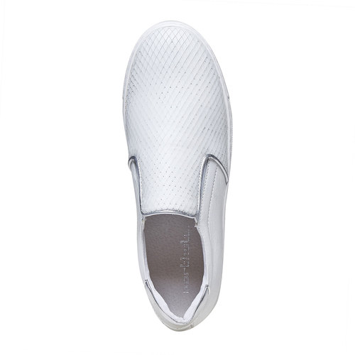 Slip-on da donna di pelle north-star, bianco, 514-1265 - 19