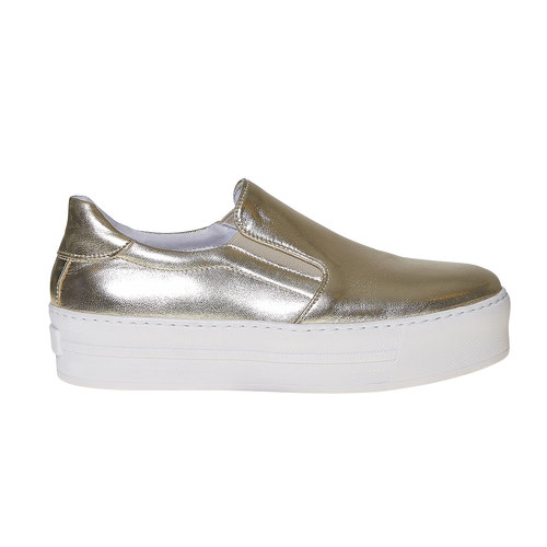 Scarpe dorate in stile Slip-on north-star, oro, 514-8265 - 15
