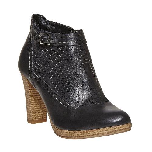 Stivaletti in pelle alla caviglia bata, nero, 724-6556 - 13