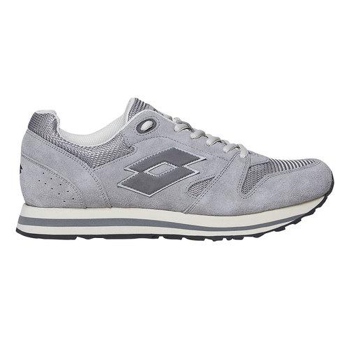 Sneakers in pelle da uomo lotto, grigio, 803-2147 - 15