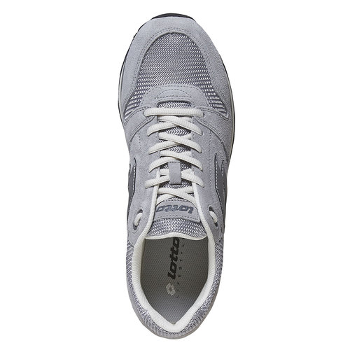 Sneakers in pelle da uomo lotto, grigio, 803-2147 - 19