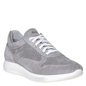 Sneakers da uomo in pelle flexible, grigio, 843-2703 - 13
