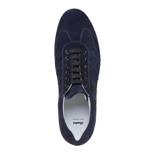 Sneakers in pelle da uomo bata, blu, 843-9381 - 19