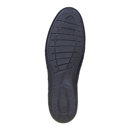 Sneakers in pelle da uomo bata, blu, 843-9381 - 26