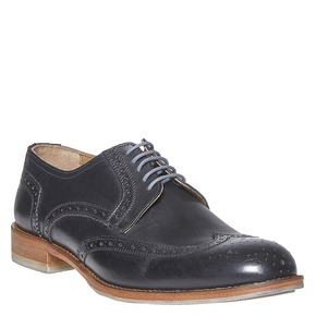 Scarpe basse di pelle con decorazione Brogue bata, nero, 824-6563 - 13