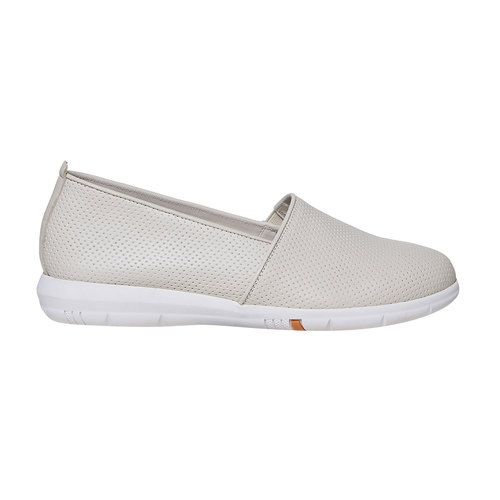 Slip-on da donna in pelle flexible, beige, 514-8270 - 15