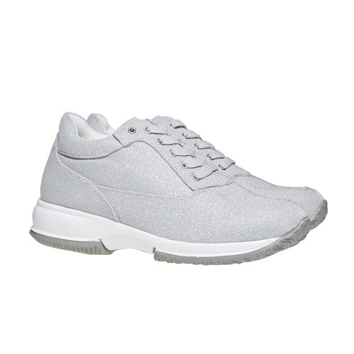 Sneakers argentate da donna bata, grigio, 549-2255 - 26