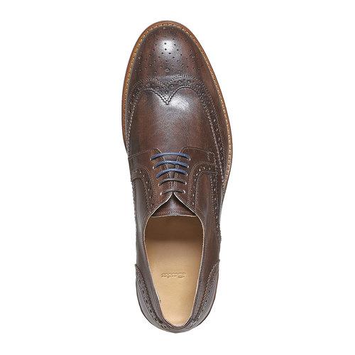 Scarpe basse di pelle da uomo bata, marrone, 824-4563 - 19