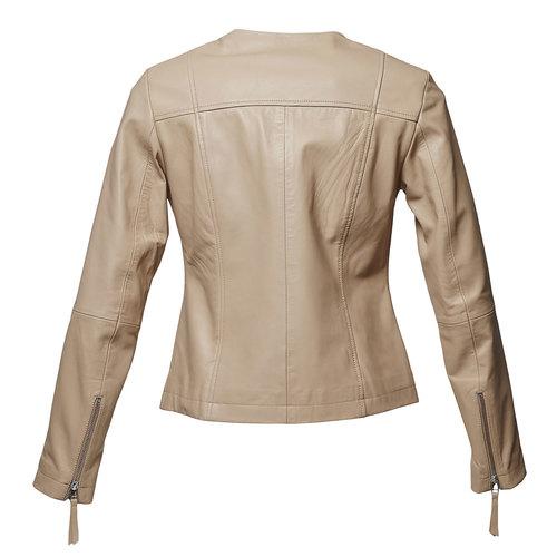 Giacca elegante di pelle bata, beige, 974-2312 - 26