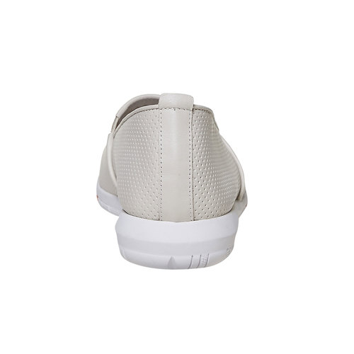 Slip-on da donna in pelle flexible, beige, 514-8270 - 17