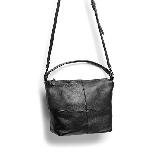 Borsa di pelle in stile Hobo bata, nero, 964-6121 - 17